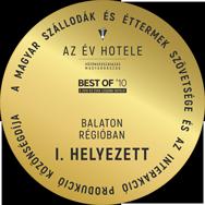 Az Év Hotele Közönségszavazás - Best of '10 | Balaton Régióban I. Helyezett | 2020